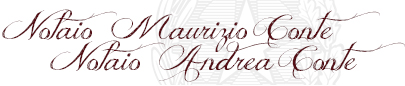 Notai Conte Maurizio e Conte Andrea